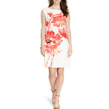 Buy Lauren Ralph Lauren Floral Print Crepe Dress, Cream Multi Online at johnlewis.com