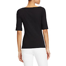 Buy Lauren Ralph Lauren Boat Neck Top, Polo Black Online at johnlewis.com