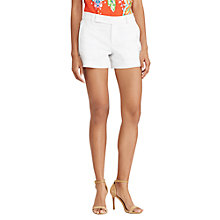 Buy Lauren Ralph Lauren Stretch Cotton Shorts, White Online at johnlewis.com