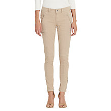 Buy Lauren Ralph Lauren Skinny Twill Cargo Trousers, Pale Wheat Online at johnlewis.com