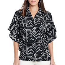 Buy Lauren Ralph Lauren Drape Shirt, Black/White Online at johnlewis.com