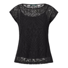 Buy Lauren Ralph Lauren Lace Detail Top Online at johnlewis.com