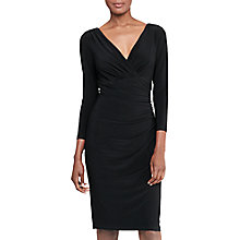 Buy Lauren Ralph Lauren Jersey Surplice Dress, Black Online at johnlewis.com