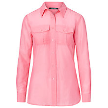 Buy Lauren Ralph Lauren Long Sleeve Silk-Blend Shirt, Peace Rose Online at johnlewis.com