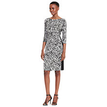 Buy Lauren Ralph Lauren Contrast Panel Abstract Dress, Black/Colonial Cream Online at johnlewis.com