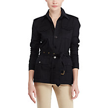 Buy Lauren Ralph Lauren Cotton Twill Safari Jacket, Polo Black Online at johnlewis.com