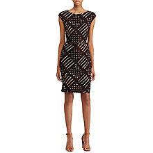 Buy Lauren Ralph Lauren Geometric Print Jersey Dress, Multi Online at johnlewis.com