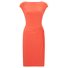 Buy Lauren Ralph Lauren Cap Sleeve Dress, Orange Poppy Online at johnlewis.com