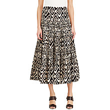 Buy Lauren Ralph Lauren Geometric Cotton Gauze Maxi Skirt, Multi Online at johnlewis.com