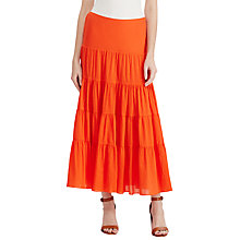 Buy Lauren Ralph Lauren Cotton Gauze Maxi Skirt, Sunset Orange Online at johnlewis.com