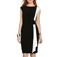 Buy Lauren Ralph Lauren Two-Tone Jersey Dress, Black/Lauren White Online at johnlewis.com
