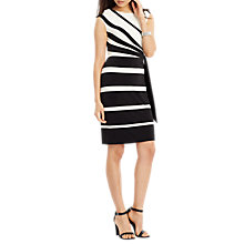 Buy Lauren Ralph Lauren Stripe Jersey Dress, Black/Colonial Cream Online at johnlewis.com