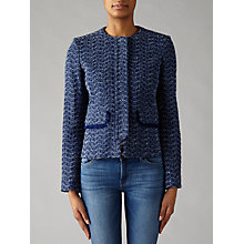 Buy Helene For Denim Wardrobe Tweed Jacket, Navy Online at johnlewis.com