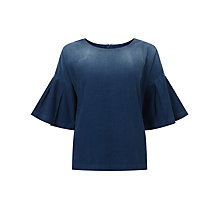 Buy 7 For All Mankind English Harbour Blouse, Denim Online at johnlewis.com