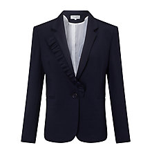 Buy Helene For Denim Wardrobe Jersey Frill Blazer, Navy Online at johnlewis.com