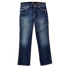 Buy 7 For All Mankind Cropped Bootcut Jeans, Indigo Online at johnlewis.com