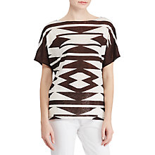 Buy Lauren Ralph Lauren Geometric Print Jersey Top, Multi Online at johnlewis.com