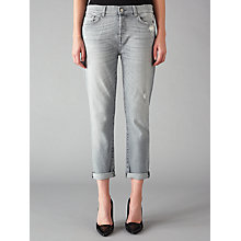 Buy 7 For All Mankind Josefina Boyfriend Jeans, Cool Grey Online at johnlewis.com