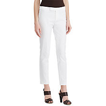 Buy Lauren Ralph Lauren Stretch Twill Skinny Trousers, White Online at johnlewis.com