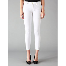 Buy 7 For All Mankind The Skinny Cropped Jeans, White Online at johnlewis.com