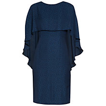 Buy Gina Bacconi Lightweight Animal Jacquard Dress, Navy Online at johnlewis.com