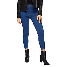 Buy Miss Selfridge Petites Blue Steffi Jeans, Mid Blue Online at johnlewis.com