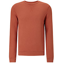 Buy JOHN LEWIS & Co. Lightweight Textured Cotton Sweatshirt, Orange Online at johnlewis.com