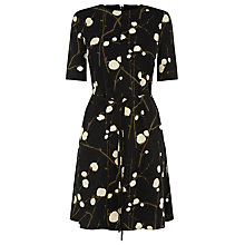 Buy Warehouse Firefly Flippy Dress, Black Pattern Online at johnlewis.com