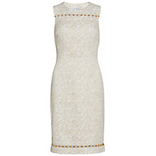 Buy Gina Bacconi Jacquard Dress With Trim, Gold Online at johnlewis.com