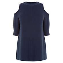 Buy Warehouse Cold Shoulder Jumper, Navy Online at johnlewis.com