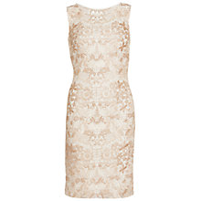 Buy Gina Bacconi Tonal Floral Mesh Dress, Spring Butter Online at johnlewis.com
