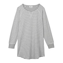 Buy hush Jersey Nightie, Grey Marl/Ecru Online at johnlewis.com