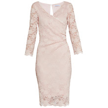Buy Gina Bacconi Stretch Lace Sequin Dress, Apricot Crush Online at johnlewis.com