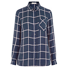 Buy Oasis Check Shirt, Multi/Blue Online at johnlewis.com