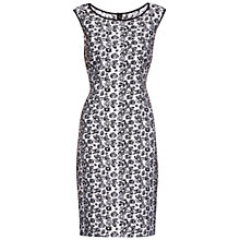 Buy Gina Bacconi Unlined Jacquard Dress, White/Black Online at johnlewis.com