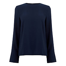 Buy Warehouse Eyelet Detail Top, Navy Online at johnlewis.com