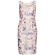 Buy Gina Bacconi Soft Watercolour Mesh Dress, Nude Online at johnlewis.com