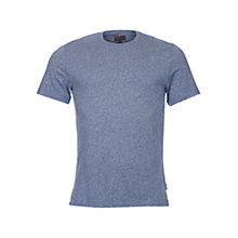 Buy Barbour Capson Melange Crew Neck T-Shirt, Chambray Online at johnlewis.com