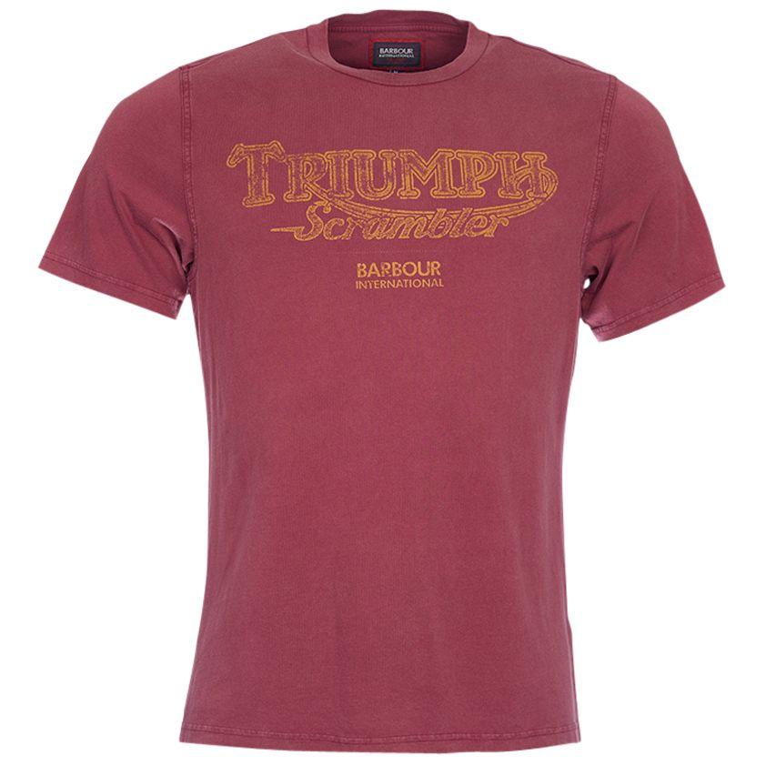Barbour International Barbour International Scrambler Triumph T-Shirt, Cordovan