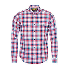 Buy Barbour International Steve McQueen Bullet Shirt, Rich Red Online at johnlewis.com