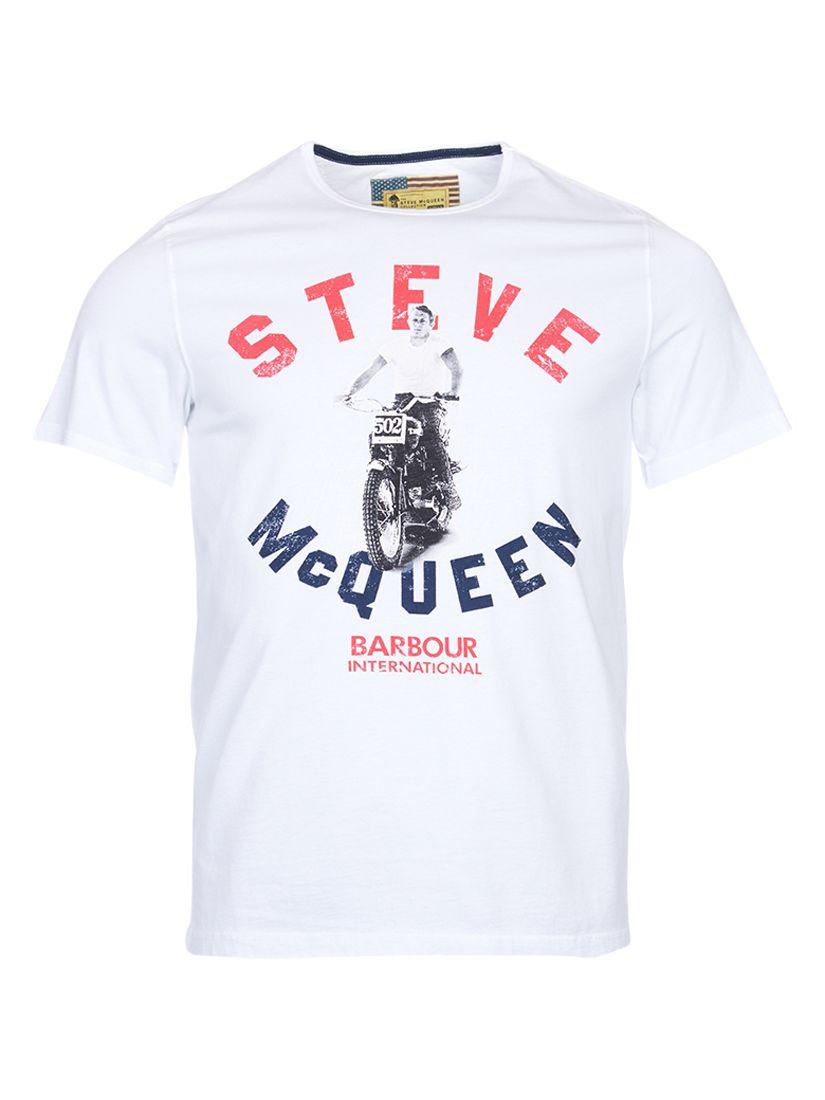 Barbour International Barbour International Steve McQueen Leap T-Shirt, White