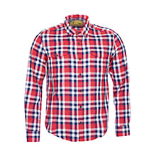 Buy Barbour International Steve McQueen Rebel Check Shirt, Red/Blue Online at johnlewis.com
