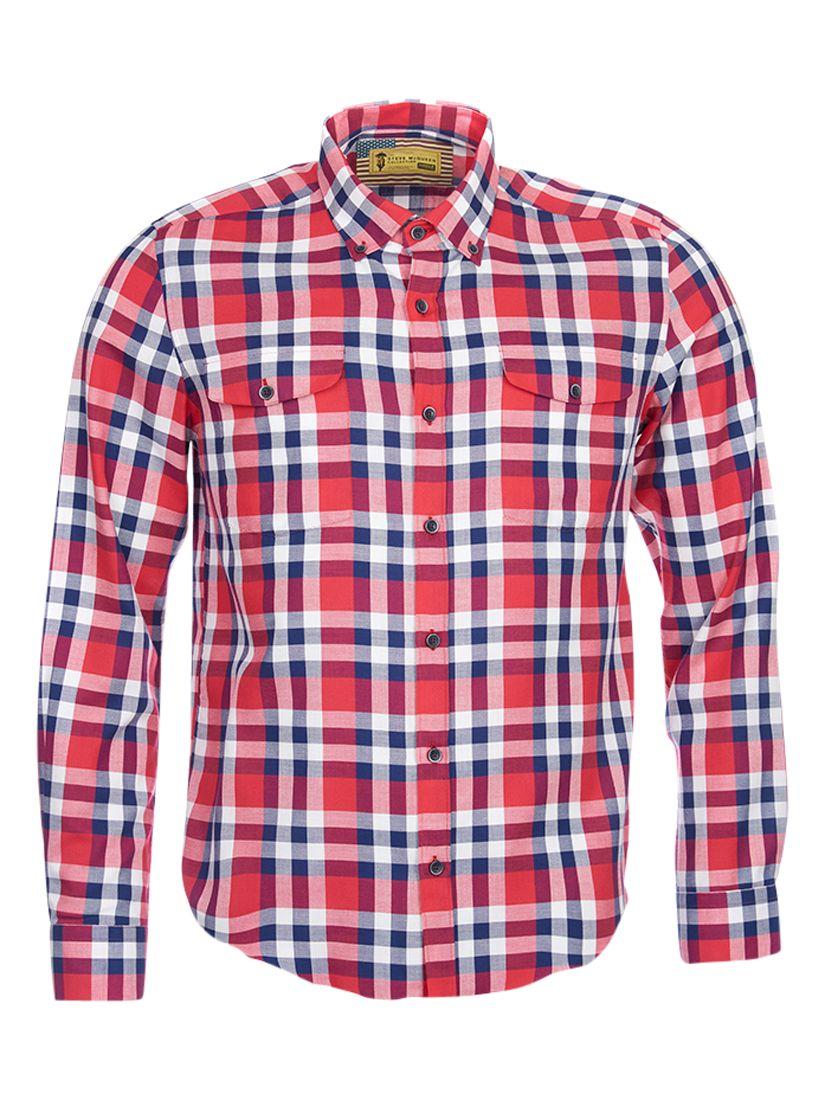 Barbour International Barbour International Steve McQueen Rebel Check Shirt, Red/Blue