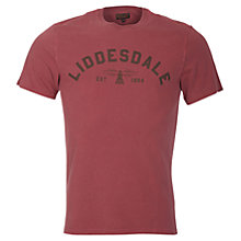 Buy Barbour Affliate 'Liddesdale' T-Shirt, Biking Red Online at johnlewis.com