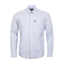 Buy Barbour Patrick Check Long Sleeve Shirt, White/Plum Online at johnlewis.com
