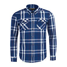 Buy Barbour International Steve McQueen Beach Grove Check Shirt, Indigo Online at johnlewis.com