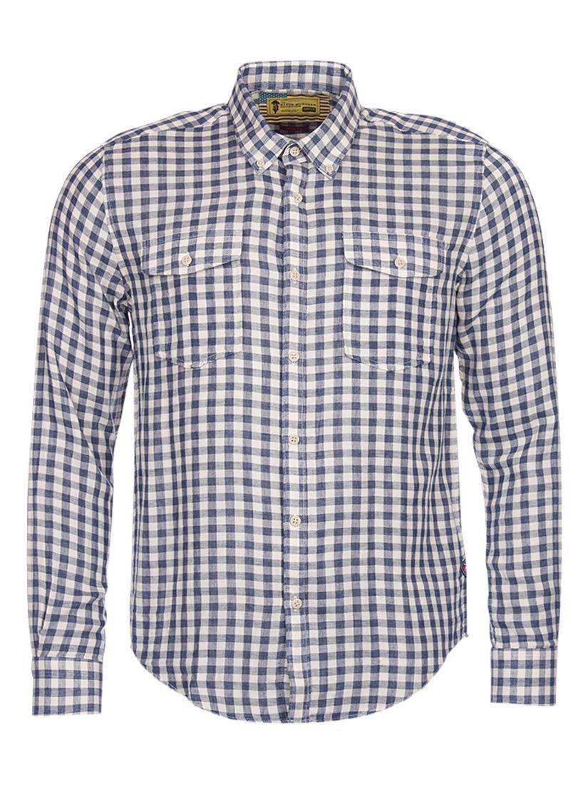 Barbour International Barbour International Steve McQueen Wit Check Slim Fit Shirt, Indigo