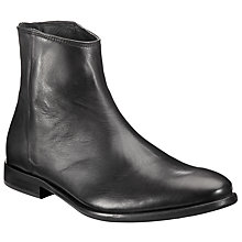Buy Paul Smith Rear Zip Leather Ankle Boots, Black Online at johnlewis.com