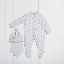 Buy The Little Green Sheep Baby Wild Cotton Bear Sleepsuit Gift Set Online at johnlewis.com