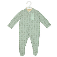 Buy The Little Green Sheep Baby Wild Cotton Rabbit Sleepsuit, Mint Online at johnlewis.com